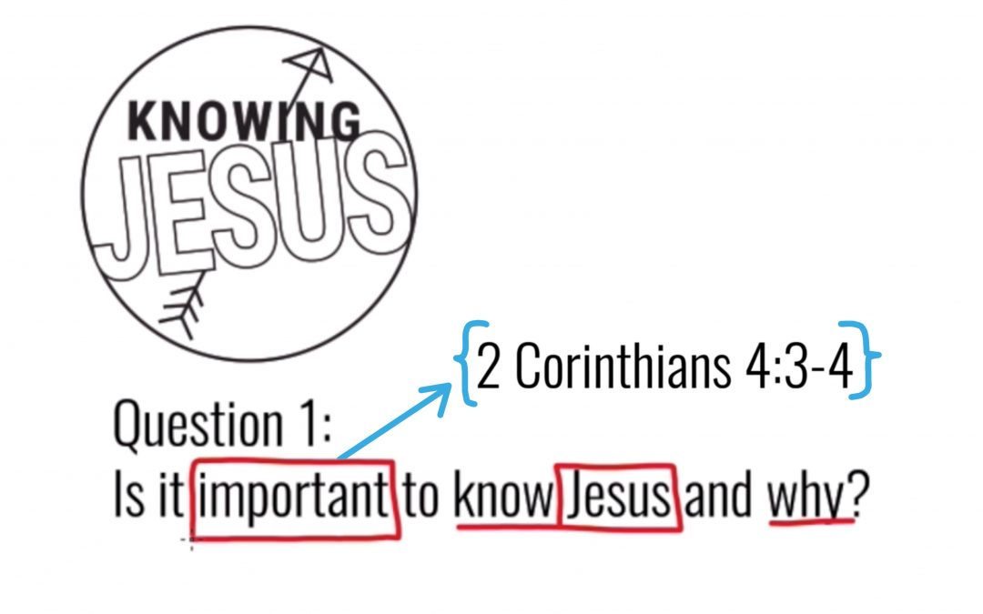The Importance of Knowing Jesus