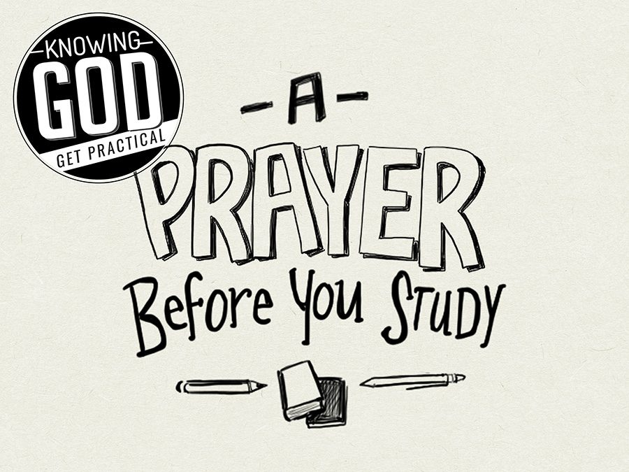 A Prayer before you Study